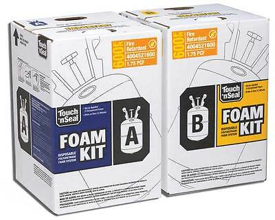 Touch N Seal U2-600 Fire Retardant Closed Foam Spray Foam Insulation Kit 600bf