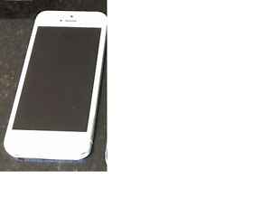 Iphone 5 - White and comes with orange case
