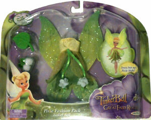 Disney TINKER BELL Fairy Doll Fashion Pack Dress Shoes Fairies