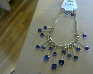 Ladies Gorgeous Necklace set Pendant and earrings.