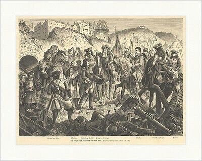Die Sieger gegen die Türken vor Wien 1683 A. Greil Schlacht K&K Holzstich E 8567