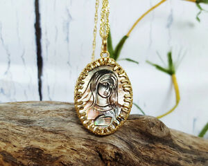 Virgin Mary Cameo Necklace - Handcrafted, Brand New! Never Worn!