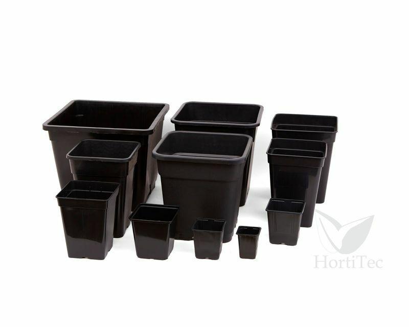Pflanztopf 0,9 - 12,5Liter Quadratisch Grow Anzucht Topf Pot Blumentopf Indoor