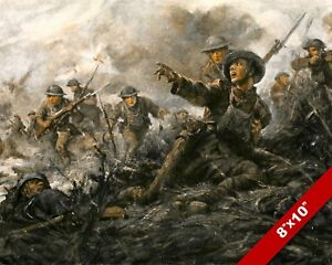 2ND BATTLE OF MARNE WWI WORLD WAR 1 MILITARY ART PAINTING REAL CANVAS PRINT