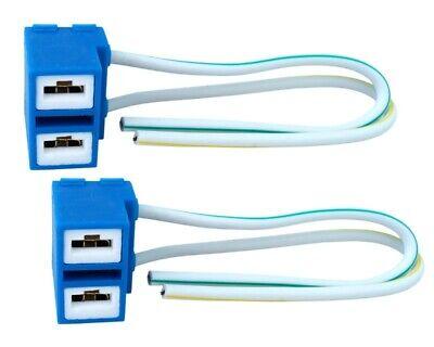 2x H7 Cerámica Lámparas Montura Conector Casquillo 12/24V Halógena LED Cable