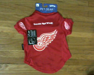 licensed NHL Detroit Red Wings Jersey for dog[new]