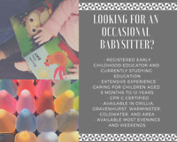 Are you looking for an occasional babysitter?