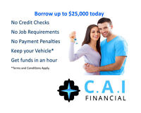 Bad credit, no credit - get short term cash today with your car!