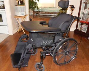 PRICE DROP $2000: Orion III Tilting Wheelchair with ROHO Cushion