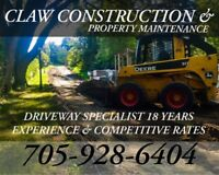 Driveway Specialist & Excavation ClawConstruction
