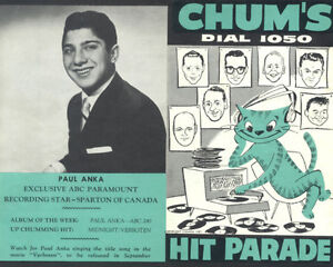 Buying CHUM HIT PARADE CHARTS, CKOC and CHAM Music Surveys