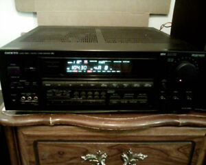 1990's Onkyo R1 AV Amplifier Receiver w Phono Input