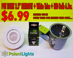 "POTLIGHTS 3.5""RETROFIT kit with 6.5w LED bulb"