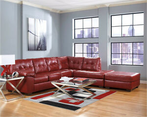 Brand New Leather Modern Sectional!!  Chaise Lounger!!