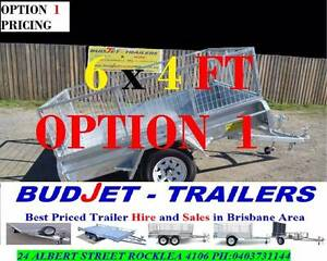 """HIRE"" TRAILER HIRE 6 x 4 FT 750KG CAGED BOX FROM ONLY $40 P/D Brisbane Region Preview"