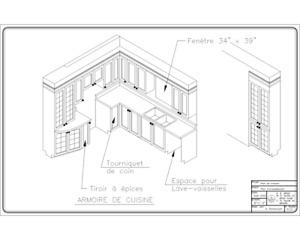 Plan d'aménagement d'armoire