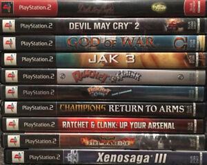 Playstation 2 Slim (PS2) Console & 10 Games