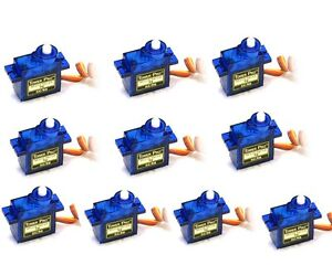10x Genuine SG90 Mini Micro 9g Servo For RC Heicopter Airplane Car Boat - USA