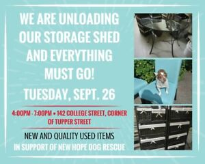 new and used furniture, lamps, tables, storage units