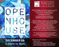 Juillet College - Open House (December 09, 2015) at 6:30pm