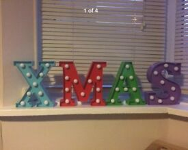 L.E.D Christmas lights XMAS sign
