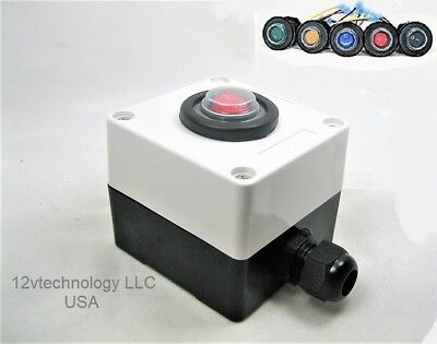 Double Sealed Waterproof Rocker Toggle Led Switch Utility Box 12v Rated Ip66