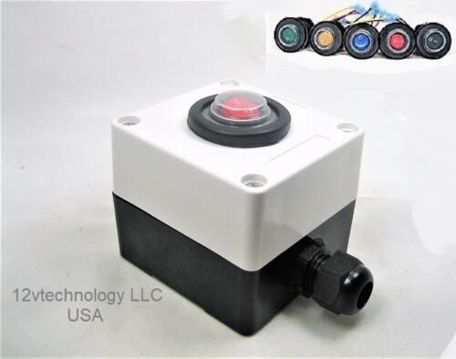 Double Sealed Waterproof Rocker Toggle SPST LED Switch & Utility Box 12V  IP66