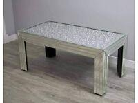 Diamond sparkle 100x50cm coffee table