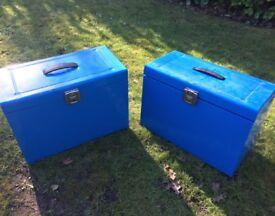 2 x foolscap file boxes