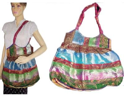 sari Bag Shoulder Silk Purse Handbag Tote