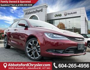 2015 Chrysler 200 S *ACCIDENT FREE* *CONVENIENCE OPTIONS*