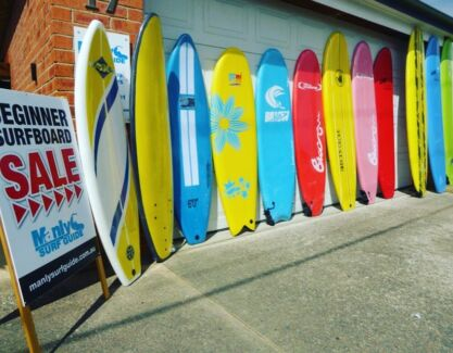 Mega Softboard Clearance Sale! Beginner Foam SurfBoards 1/2 Price!