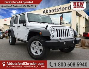 2016 Jeep Wrangler Unlimited Sport One Owner & Accident Free!