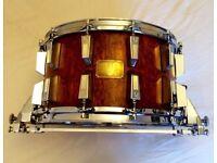 """Sonor Signature heavy bubinga Horst link era 14"""" x 8"""" snare drum"""