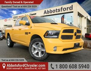 2016 RAM 1500 Sport Stinger Yellow Sport w/ Nav & Sunroof!