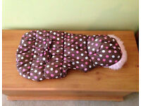 WAG-A-TUDE SPOTTY DOG COAT WITH HOOD ~ SIZE L