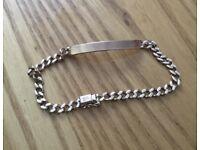 9ct Gold identity curb bracelet 15grams