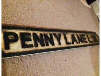 Beatles decorative sign. Vintage Ornament penny lane