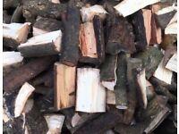 Seasoned hard and soft fire wood.