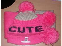 Beanies, hat & scarf sets suit age 3-6 years