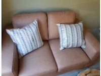 Brand New Next Leather Sofa in Sahara Sand Colour RRP £600