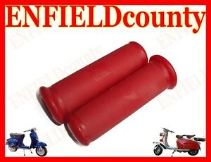 BRAND-NEW-VESPA-RED-TWIST-HEADSET-RUBBER-GRIP-PAIR-VBB-VNB-VNA-SS-PIAGGIO-LOGO