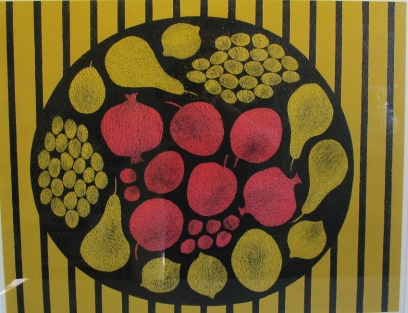 "Original Margo Hoff Silkscreen ""red With Yellow"" #1/75  Signed & Nmbd Lithograph"