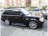 """Range Rover 22"""" Stormer wheels with tyres"""