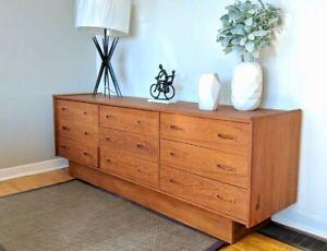 Mid century teak dresser sideboard cabinet tv stand