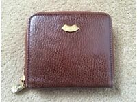 Authentic BALLY vintage logo embossed leather bifold wallet purse