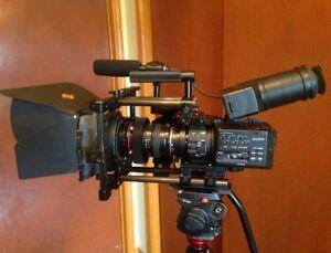 SONY FS100 + Cinevate Lens adapter / matte box / follow focus