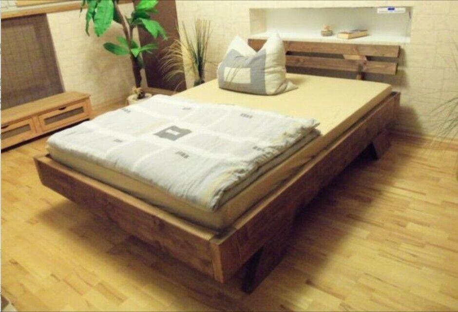 Bettgestell / Massivholzbett / Bett ( Timo ) alle Größen Farben 100%Handarbeit 1