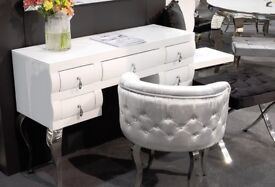 Desk, Console, White Glass, New Online Shop
