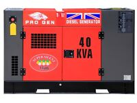PROGEN BRAND 40KvA DIESEL 3 PHASE GENERATOR FOUR STROKE WATER COOLED ENGINE AUTOMATIC START SYSTEM